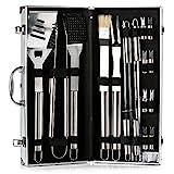 IBUYTOP BBQ Grill Werkzeug Set Grill Grill Utensilien Outdoor Grill Edelstahl Zubehör Grillen Tool Kit in Tragetasche (17-teilig)