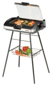 Elektro Standgrill - Cloer 6720 Barbecue-Grill mit Standfuss und Glasplatte