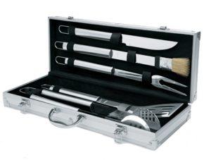 Grillbesteck Koffer 2: Electrolux Barbecue Grillset aus Edelstahl