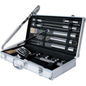 Grillbesteck Koffer 3: Broilmaster, 18-teiliges Grillbesteck