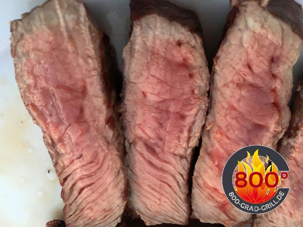 Steak aufgeschnitten